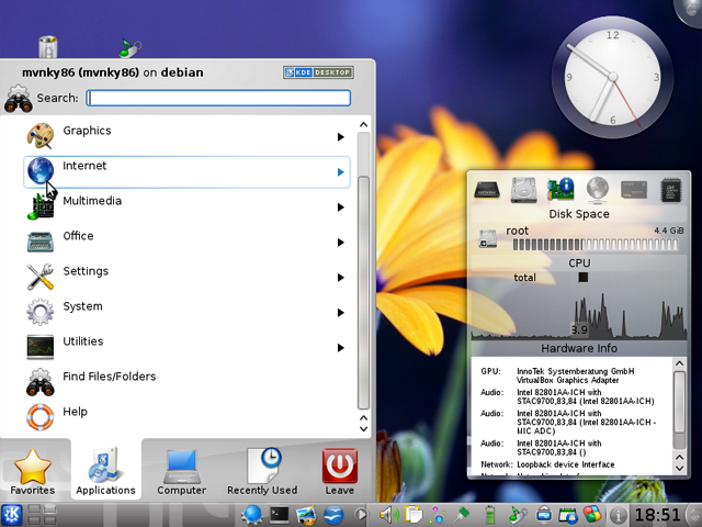 Debian 6.0 Desktop Application